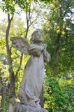 Statue dans le cimetière de Lychakiv à Lviv, Ukraine Photos stock