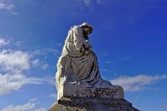 Statue dans le cimetière 2518 images libres de droits
