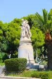 Statue dans le jardin - Athènes, Grèce Image stock