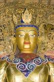 Statue dans le monastère de Palkhor Images libres de droits