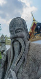 Statue dans le style chinois en Wat Pho Kaew, Bangkok, Thaïlande Images libres de droits