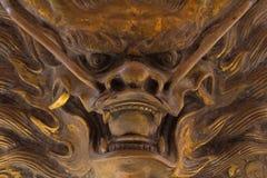 Statue dans le temple chinois Images libres de droits