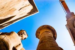 Statue dans le temple de Karnak à Louxor, Egypte photo stock