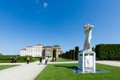 Statue dans les jardins du palais de Venaria, Turin photographie stock libre de droits