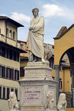 Statue of Dante Alighieri in Florence Stock Photos