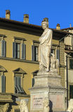 Statue of Dante Alighieri, Florence Stock Images