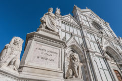 Statue of Dante Alighieri in Florence, Italy Royalty Free Stock Photo