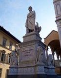 Statue of Dante Alighieri Royalty Free Stock Photos