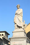 Statue of Dante Alighieri in Florence, Italy Royalty Free Stock Photography
