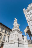 Statue of Dante Alighieri in Florence, Italy Royalty Free Stock Image