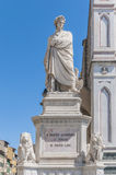 Statue of Dante Alighieri in Florence, Italy Stock Image