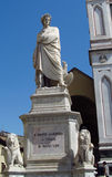 Statue of Dante Alighieri in Italy Stock Photography