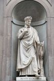 Statue of Dante Alighieri Royalty Free Stock Photography