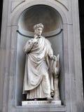 Statue of Dante Alighieri Stock Images