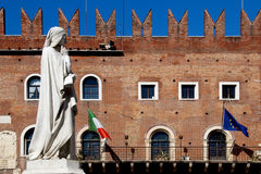 Statue of Dante Alighieri in Verona Royalty Free Stock Photography