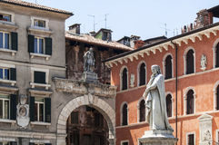 Statue of Dante Alighieri in Verona Royalty Free Stock Images