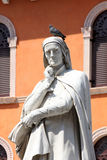 Statue of Dante Alighieri in Verona Stock Photos