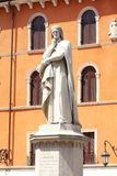 Statue of Dante Alighieri in Verona Stock Image
