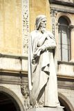 Statue of Dante Alighieri in Verona, Italy royalty free stock photography