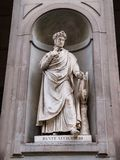 Statue of Dante Allighieri Royalty Free Stock Photo