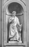 Statue of Dante in Florence. Stock Photography
