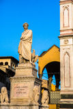 Statue of Dante in Florence Royalty Free Stock Photos