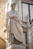 Statue of Dante. Florence, Italy, June 11, 2015: Statue of Dante in the Piazza di Santa Croce in Florence stock photos
