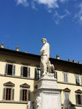 Statue of Dante in Florence Royalty Free Stock Image
