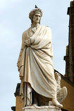 Statue of Dante in Piazza Santa Croce in Florence - Italy Stock Image
