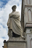 Statue of dante in piazza santa croce, florence. FLORENCE, ITALY: JULY 15: Board of directors of Opera di Santa Croce announces 3 year plan for the site in Stock Image