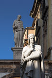 Statue of Dante in Verona - Italy Royalty Free Stock Photos
