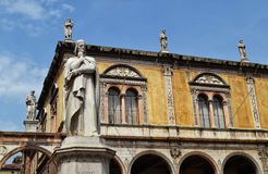 Statue of Dante in Verona Stock Images
