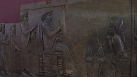 Statue of Darius stock footage