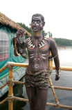 The statue of the dark-skinned native Royalty Free Stock Photo