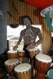 The statue of the dark-skinned native Stock Photo