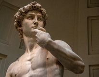 The Statue of David in the Accademia Galleria royalty free stock images