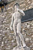 Statue of David in Florence. White stone statue of David in Florence Stock Photo