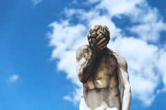 Statue of David holding head in hand. Sculpture of David in Paris, France Royalty Free Stock Photos