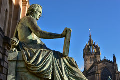 Statue of David Hume in Edinburgh Stock Photo