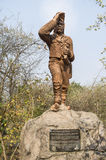 Statue of David Livingstone. Located near Victoria Falls in Zimbabwe royalty free stock photography