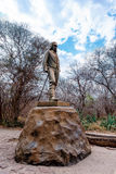 Statue of David Livingstone in The Victoria falls Stock Images