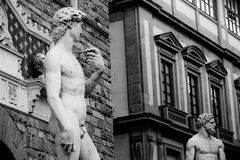 STATUE OF DAVID. Michaelangelo david statue on florence historic center Royalty Free Stock Photography