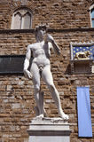 The statue of David by Michelangelo Stock Photography