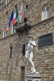 Statue of David by Michelangelo in Florence Stock Photos
