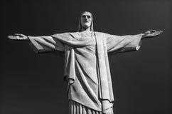 Statue de B/W du Christ le rédempteur en Rio de Janeiro images stock