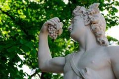 Statue de Bacchus dans le jardin d'été image libre de droits