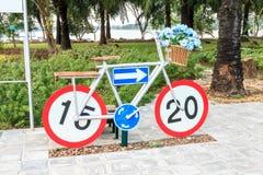 Statue de bicyclette Photos libres de droits