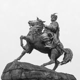 Statue de Bohdan Khmelnytsky de Hetman à Kiev Photos libres de droits