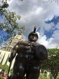 Statue de Botero à Medellin, Colombie Photos stock