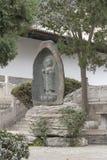 Statue de Bouddha au complexe de xian de temple de pagoda d'oie - imagen image libre de droits